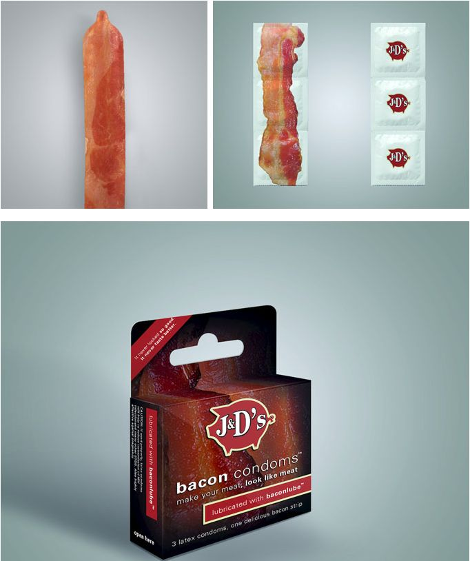 Bacon condoms. WTF?
