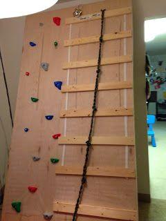 Cup of Autism: DIY Climbing Wall