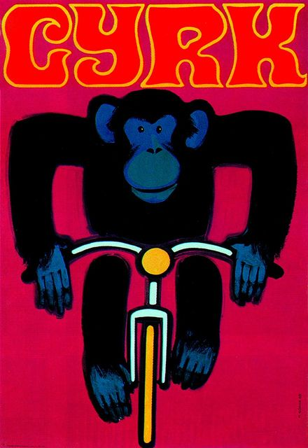 From a series of posters for the Polish Circus. Artist, Wiktor Górka. From Graphis Annual 69/70.