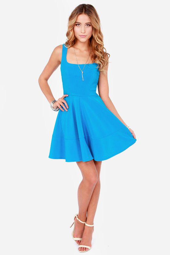 Best 25  Bright Blue Dresses ideas on Pinterest | Blue dress shoes ...