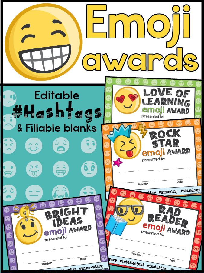Classroom Ideas Awards : End of the year awards emojis