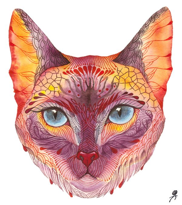 Surrealistic Wildlife by Olaliola-watercolor by Ola Liola, via Behance