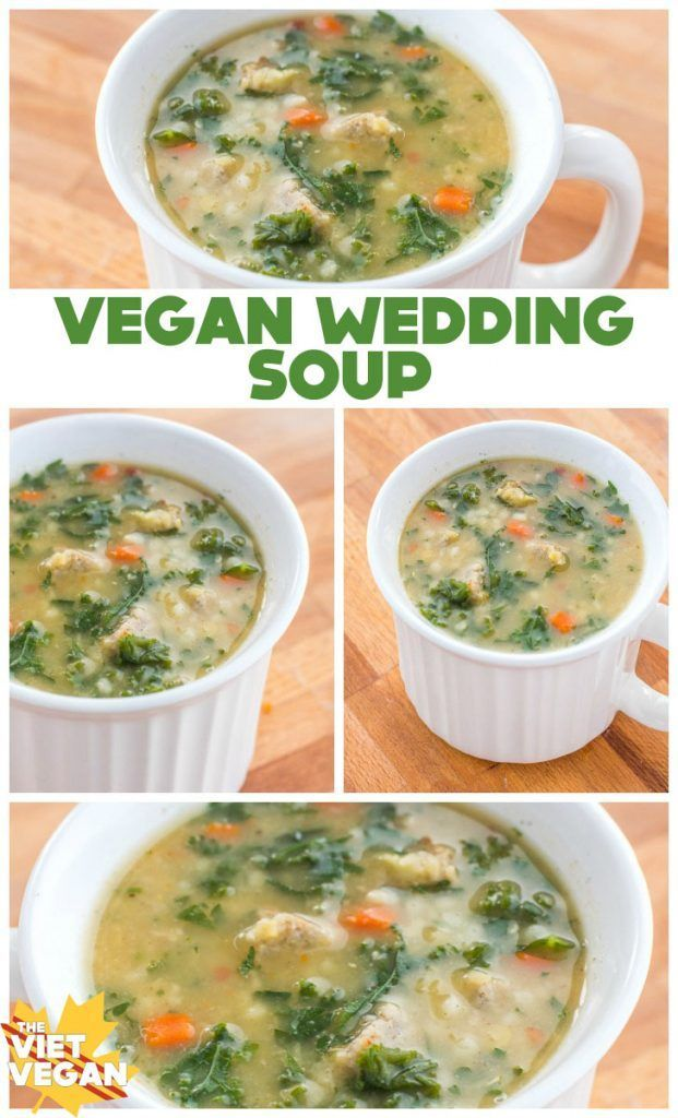 Vegan Wedding Soup | The Viet Vegan | Warming, hearty, and full of vegan sausage, parsley, and broth <3
