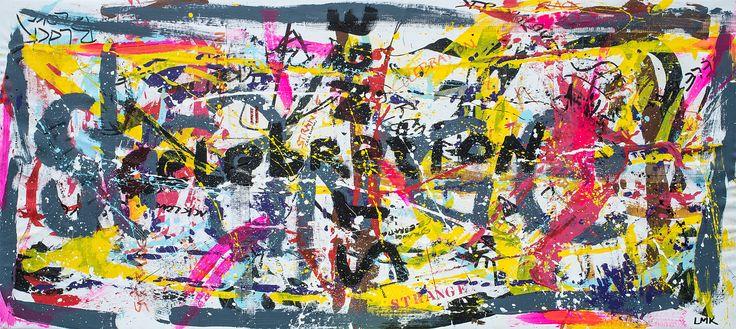 """Strange"" 2015 Acryl on canvas. Size: 190x80 cm"