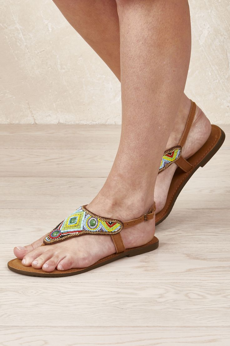 RUBY YAYA - Jewelled Flat Sandal