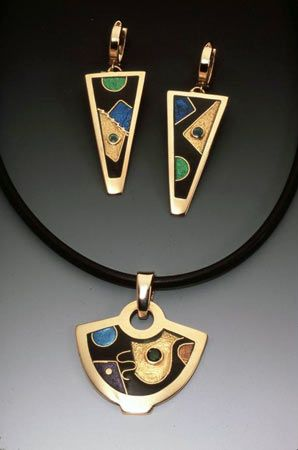 "Helen Hosking, enamel jewelry. ""All of my work is involved in an exploration of timing, form, and space."""
