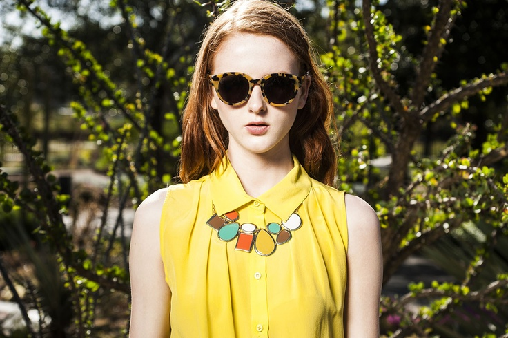 Let a fun, colourful statement necklace be the hero of your look