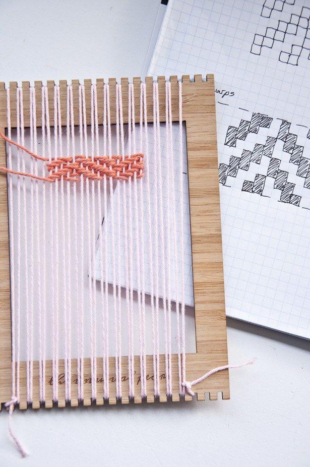 Herringbone Weave   The Weaving Loom #weaving #tutorial