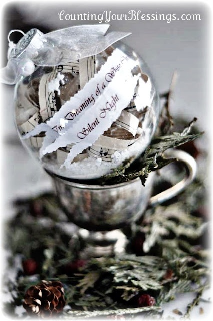 Try this for an ornament using our wedding invitation.