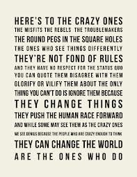 steve jobs misfits quote - i love this quote - rip steve jobs a truly inspirational man...x