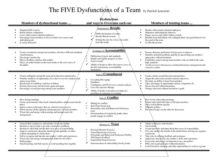 Overcoming the five dysfunctions of a team essay