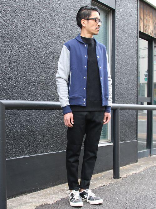 赤耳(セルヴィッチ)黒×黒デニムアンクルパンツ【MADE IN JAPAN】『日本製』【送料無料】 / Upscape Audience - 【 Audience 】
