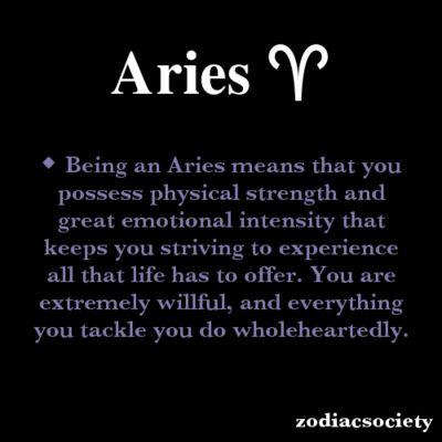 Aries Zodiac Facts