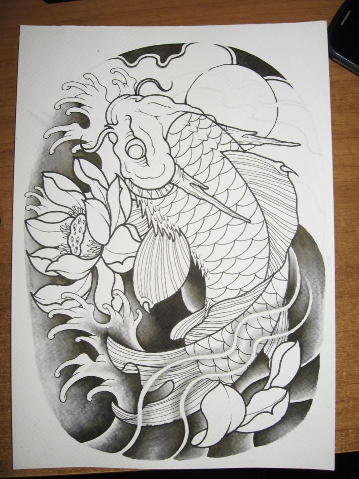 Best 20 koi dragon tattoo ideas on pinterest dragon koi for Japanese koi design