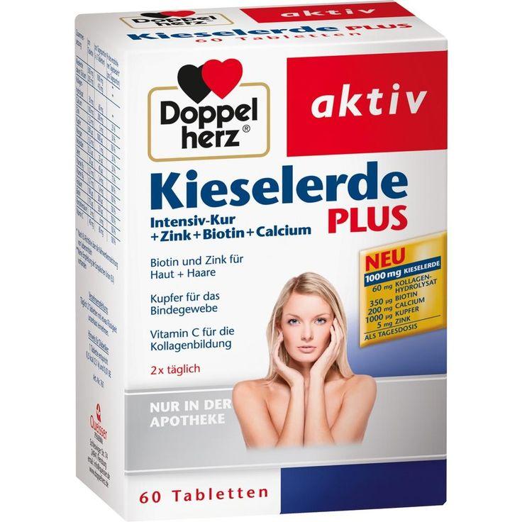 DOPPELHERZ Kieselerde Plus Int.Kur+Zi.+Bio.+Cal.T:   Packungsinhalt: 60 St Tabletten PZN: 10021776 Hersteller: Queisser Pharma GmbH & Co.…