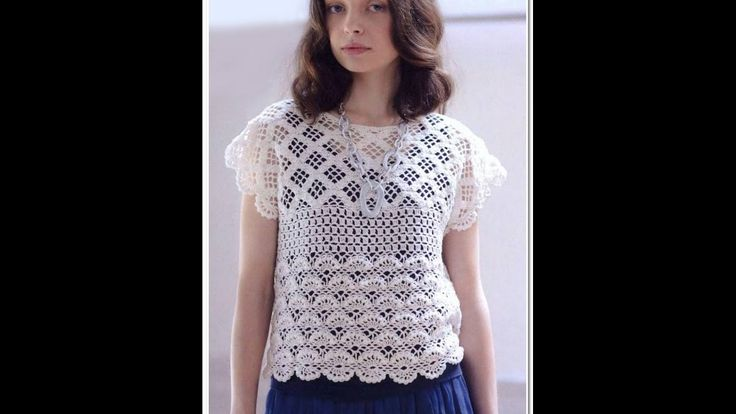 Crochet Patterns| for free |crochet blouse| 1439