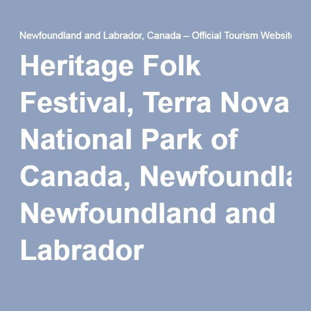 Heritage Folk Festival, Terra Nova National Park of Canada, Newfoundland and Labrador