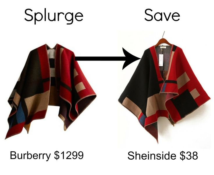 This was my first save vs splurge post and it was a huge success! This blanket cape was only $38! #blanketcape #wool #poncho #sheinside