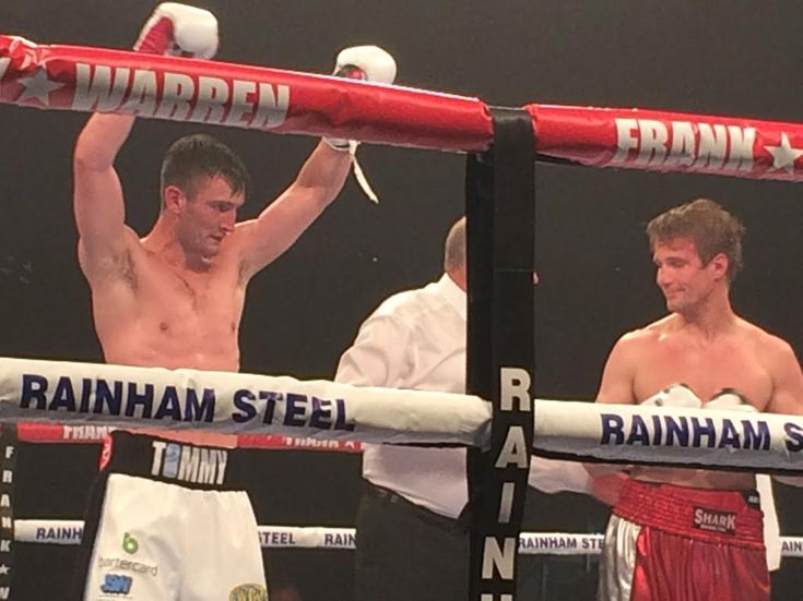 Tommy Langford is looking for bigger opportunities after his arm is raised against Sam Sheedy