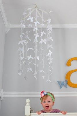 Beautiful butterfly mobile DIY butterfly mobile DIY baby child decoration