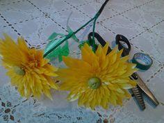 георгины из пластиковых бутылок, мастер класс, цветы из пластиковых бутылок, мк, своими руками, желтые цветы, идеи для дачи, поделки для сада, из отходных материалов, обустройство приусадебного участка, декор из пластиковых бутылок, делаем сами,желтые георгины