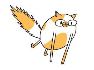 Cake è una super-gatta! Ha i superpoteri e riesce a cambiare forma al suo corpo. E' la versione femminile di Jake. Boing Tv