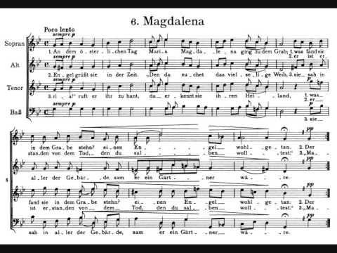 (3) Brahms, Marienlieder op. 22 (1859) - VI. Magdalena - YouTube