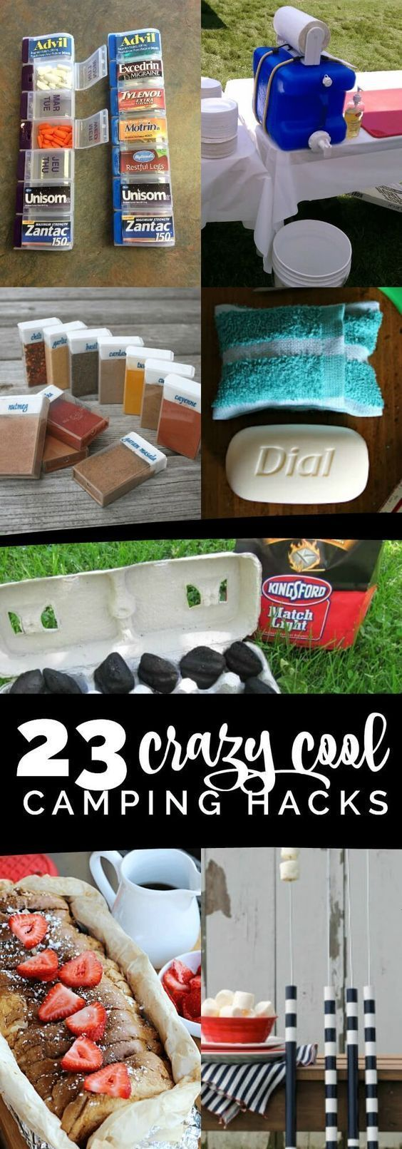 These crazy cool camping hacks, tips and tricks will save you time, money and frustration! Camping can be so much fun, but it can also be a lot of work. But with a little pre-planning -- and these camping hacks, tips, tricks and insider tips -- you can be a happy camper! From an emergency toilet, to a headlamp lantern hack, to storing medicine while camping to how to make campfire orange rolls, t... ** You can find more details by visiting the image link. #CampingTipsTricks
