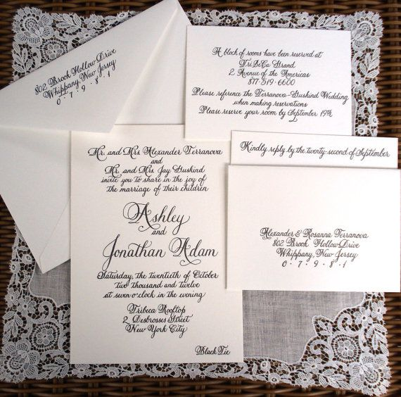 Letterpress Wedding invitation suite by Calligraphywithstyle, $925 for 200 RSVP + Invitation + Return Address extra enclosure - $1,225 Thermography: $440.00 extra enclosure - $570.00 GREAT VENDOR! Very accessible and friendly.