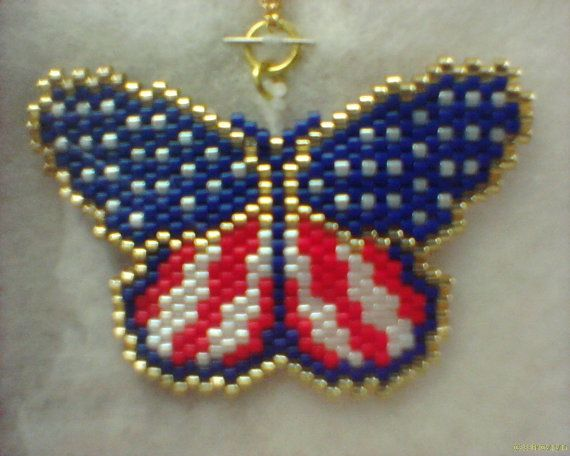 17 best images about american flag beadwork on pinterest for Patriotic beaded jewelry patterns