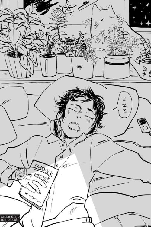 "cassandrajp: "" Tiberius drooling in his sleep? Little cinnamon roll. """