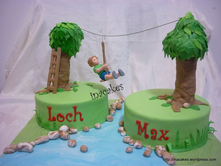 zip line birthday cakes - Google Search