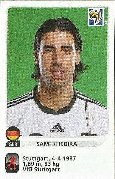 Sami Khedira of Germany. 2010 World Cup Finals card.