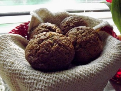 I made this recipe for these big Texas Sized Banana Nut Muffins. They were delicious! Make sure you stir in the brown sugar at the end BY HAND & do not over stir, as you want it to not totally mix in, leaving tasty little chunks & swirls as it bakes.