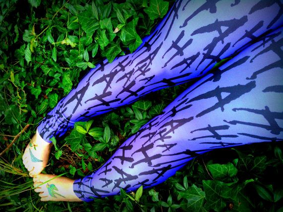 This is my crazy little version Of the Joker leggings with my exclusive designed Ha Ha Ha purple lycra complete with green lycra top band(last