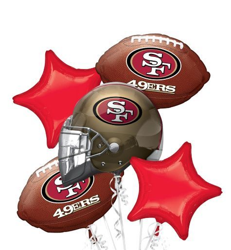 San Francisco 49ers Balloon Bouquet - Party City