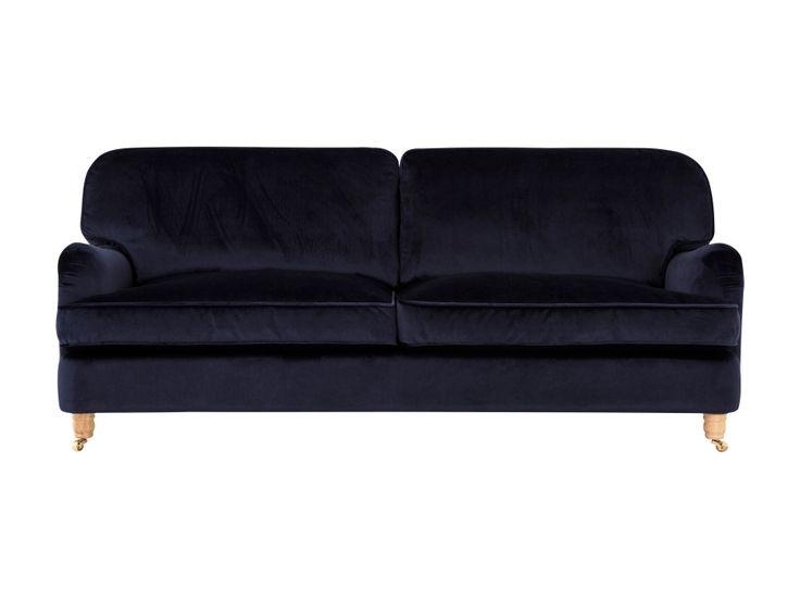 HOWARD DELUXE 3-sits Soffa Sammet Mörkblå i gruppen Inomhus / Soffor hos Furniturebox (110-32-109479s)