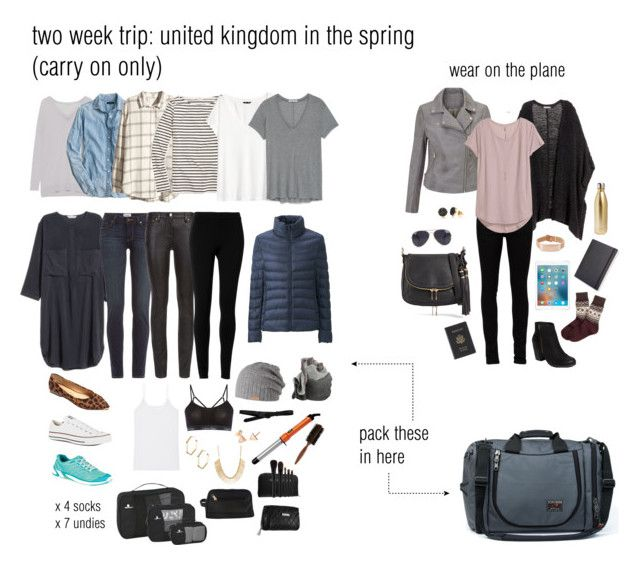 packing list for a two week trip to the united kingdom in the spring. carry on only.