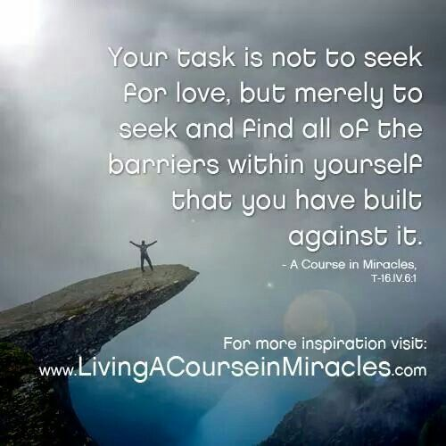 Remove barriers to love