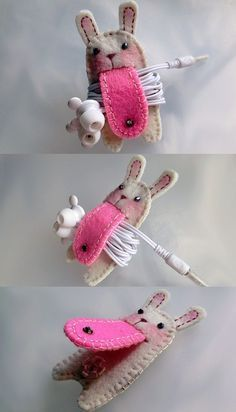 I freakin' love this!!! could be any animal or character! great for packing earbuds on flights. No how-to but a good idea!