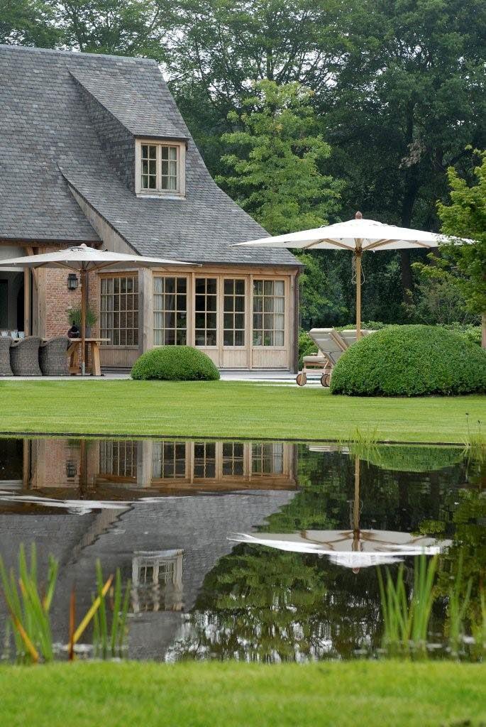 Belgian home, garden designed by landscape & garden architect Stijn…