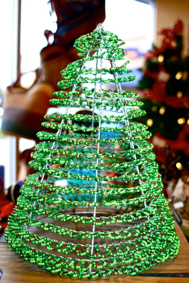 Beautifully beaded Christmas trees! Available in small and medium sizes. Also available in WHITE!