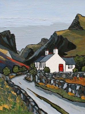 British Artist David BARNES - Mountain Road