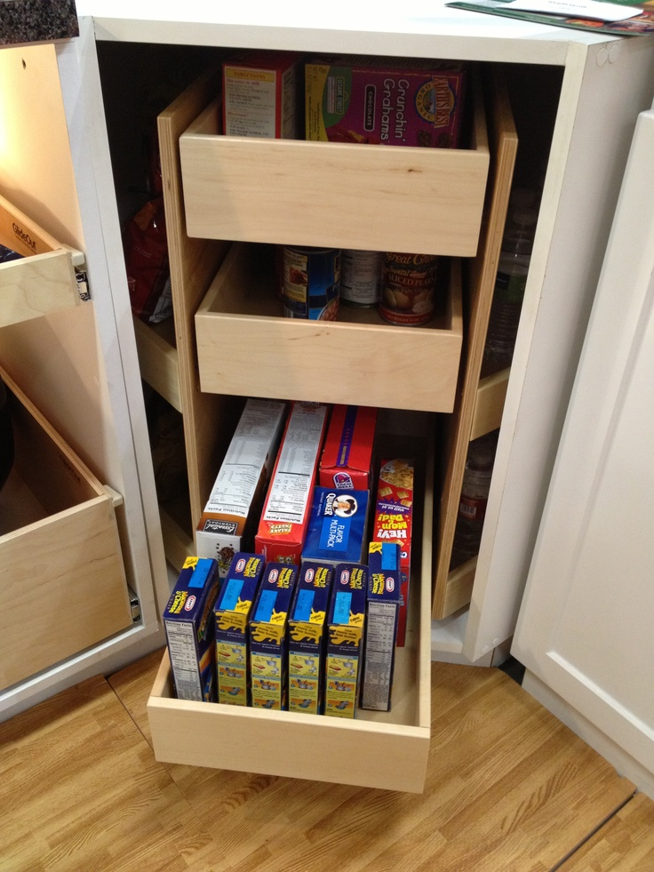Pull out drawers storage shelves and lazy susan on pinterest