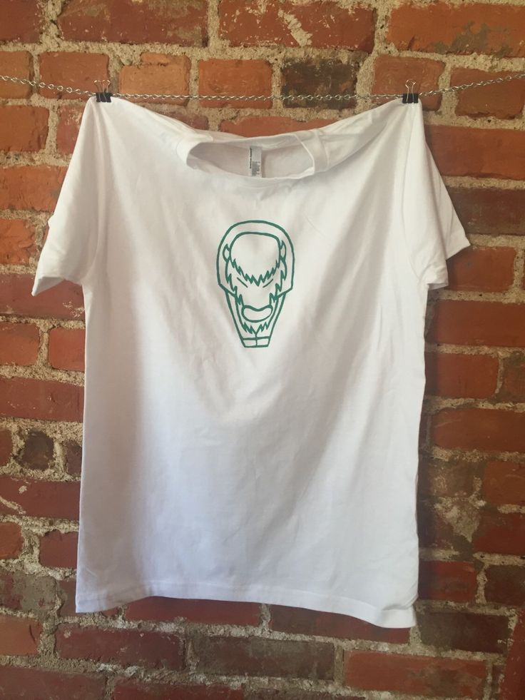 A personal favorite from my Etsy shop https://www.etsy.com/listing/264936258/green-on-white-buffalo-screen-printed-t