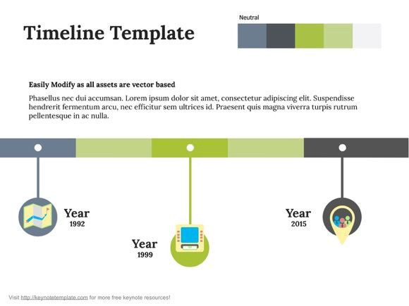 Free Apple Keynote Template - Timeline on Behance
