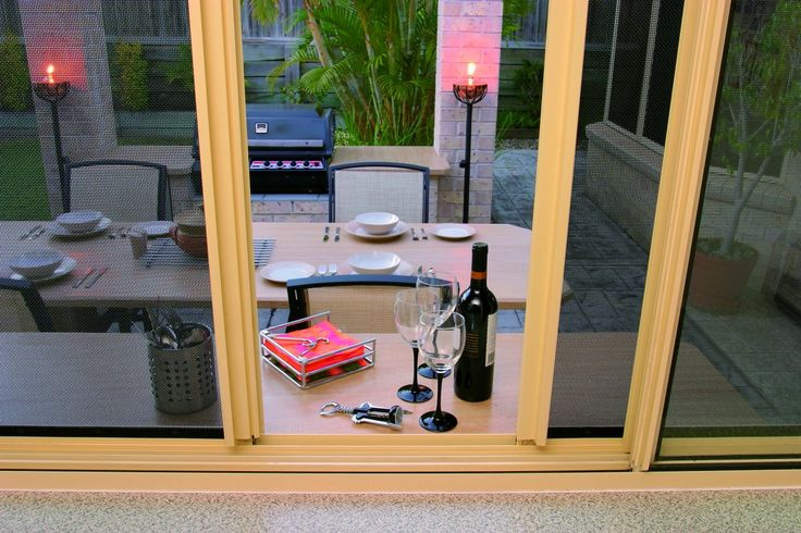 Perfect for server windows - sliding Crimsafe® screens are simple yet highly effective.