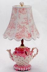 The site sells clever teapot lamps. So cute for a kitchen or dining room.