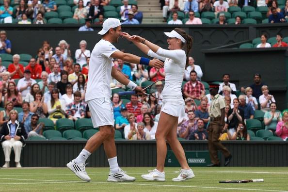 Iveta Benesova and Jurgen Melzer Wimbledon Mixed Dubs winners 2011