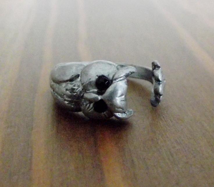 Open Owl Ring. $21.00, via Etsy.